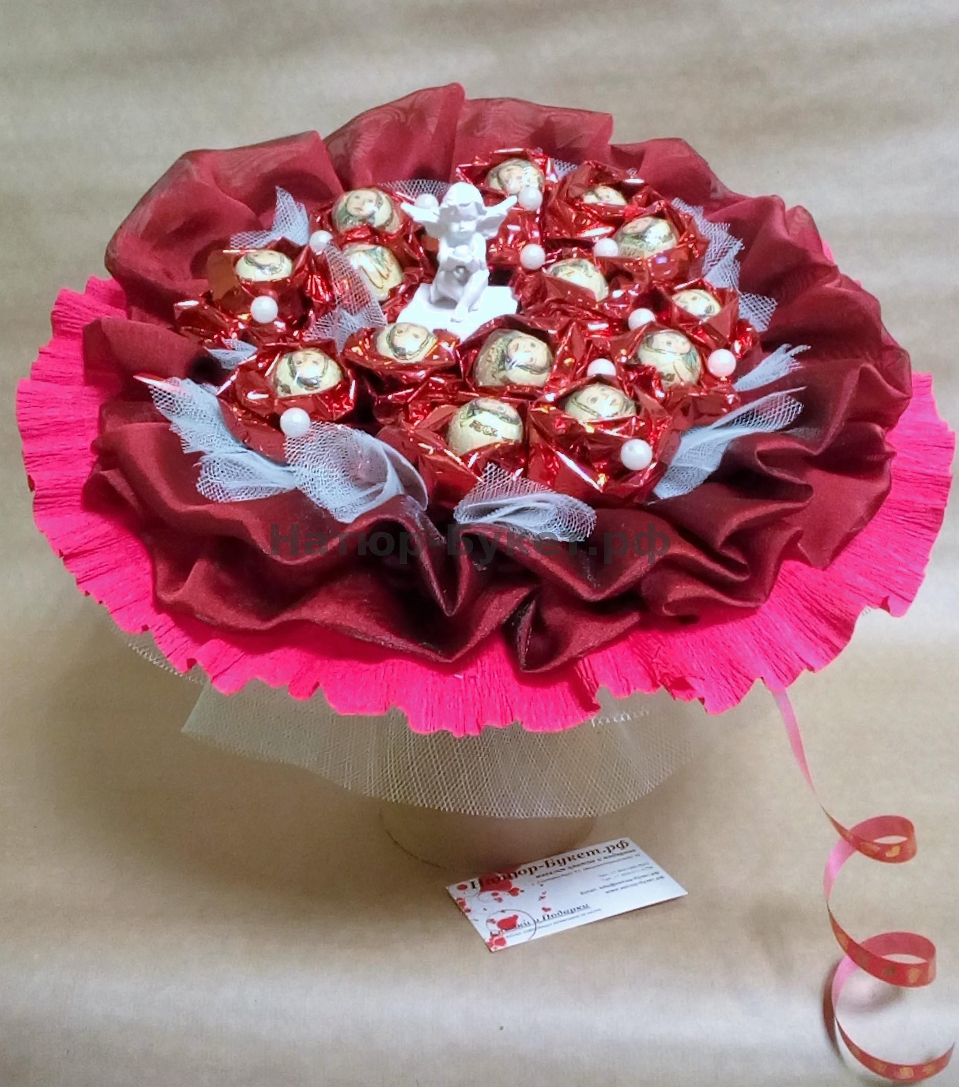 Букет из конфет своими руками пошаговое фото