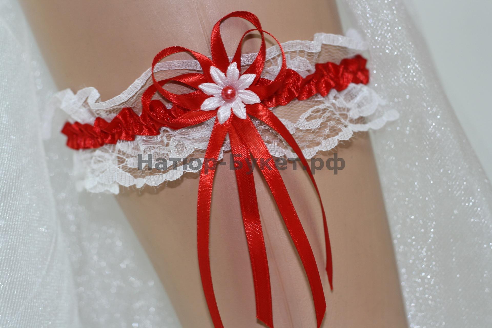 Подвязка для невесты мастер класс фото