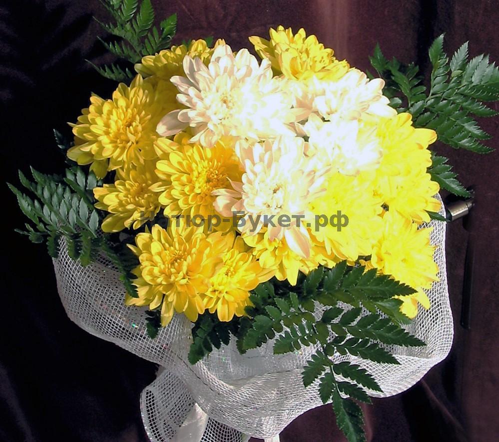 Букет из хризантемы своими руками